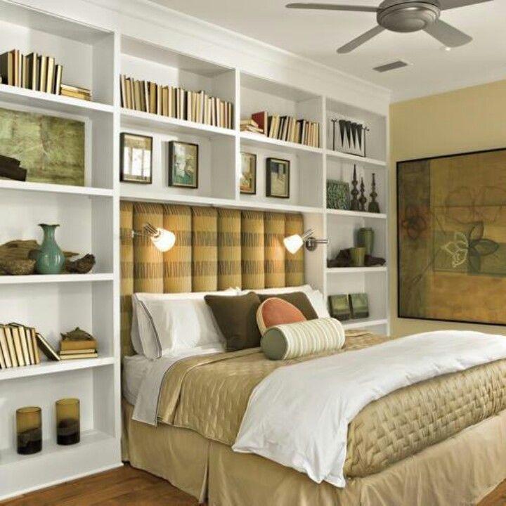 Shelves around bed  Bedrooms  Pinterest  Girls Built