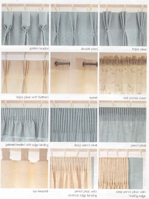 15 Best Images About CURTAIN HEADINGS On Pinterest Different