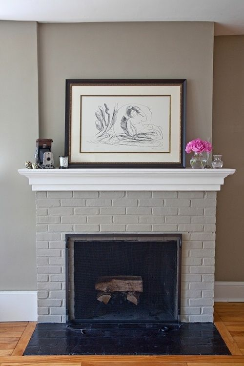 Fireplace Brick Paint Colors Painted Brick Fireplace | House Paint Colors | Pinterest
