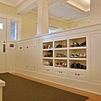 entryway built-in shoe storage- just need a much smaller ...