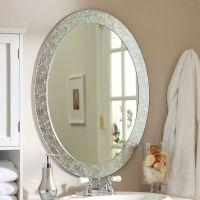 Oval Frame-Less Bathroom Vanity Wall Mirror With Elegant ...