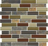 "Mohawk Phase Mosaics Stone and Glass Wall Tile 1"" Random ..."