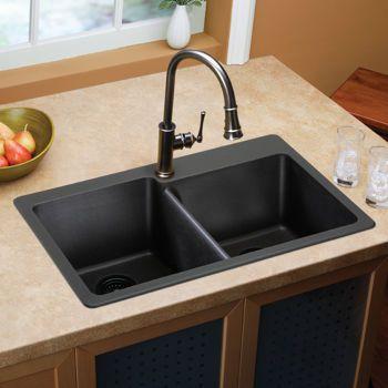 Costco Elkay E Granite Double Bowl Sink Kitchen Remodel Pinterest Costco Black Tops And