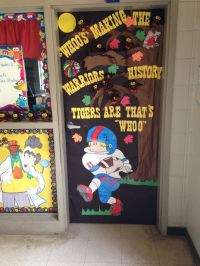 Homecoming classroom door decoration.