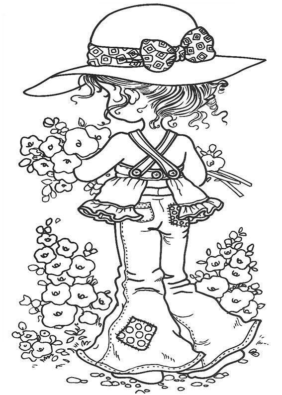 Stampavie Sarah Kay Clear Stamp-Spring Is Back 3-1/2