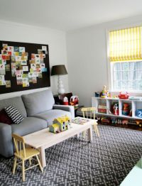 playroom/office area. Perfect use for the huge bulletin ...