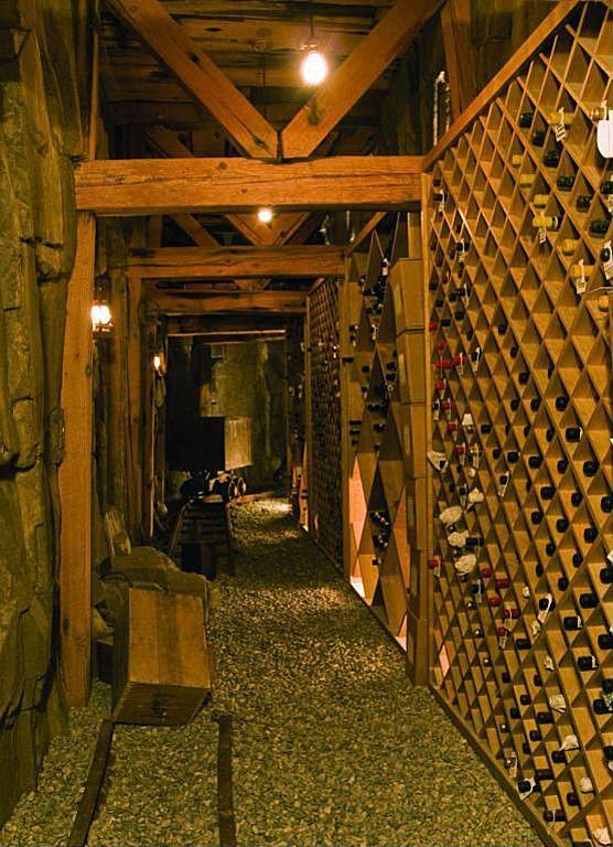 Wine Cellar made to look like a mine shaft 576x768