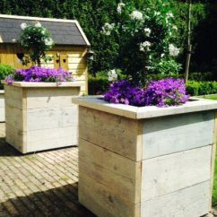 Kitchen Table Bench Seat Small Tv For Zelf Gemaakte Bloembakken (steigerhout) | Paletten ...