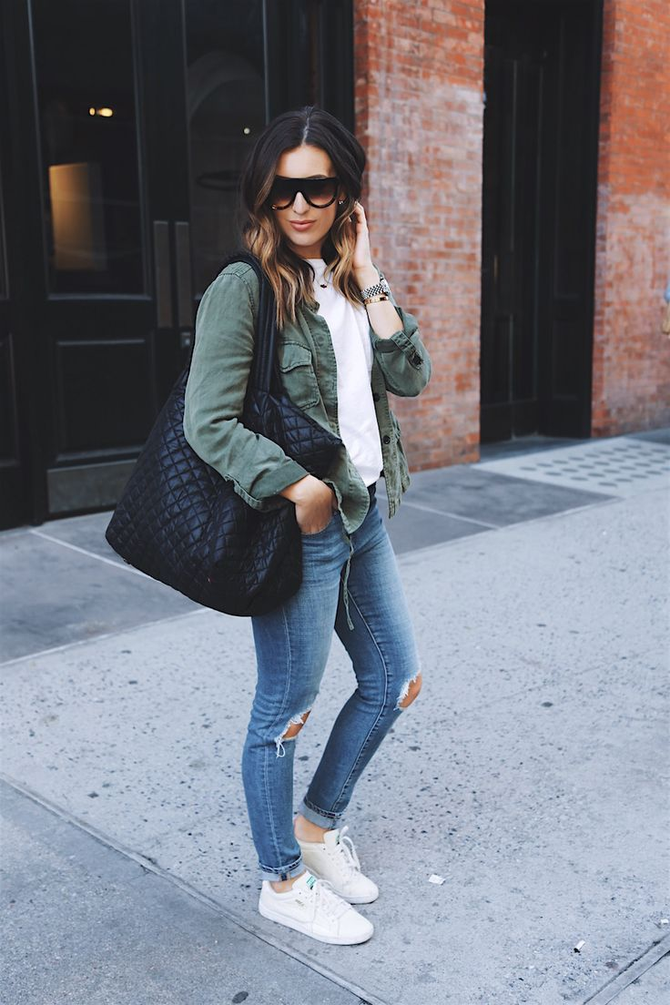 Weekend street style using the MZ Wallace quilted Large Metro Tote  On the Street  Pinterest