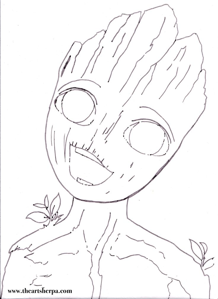 I am Groot BABY for the youtube Acrylic Art sherpa