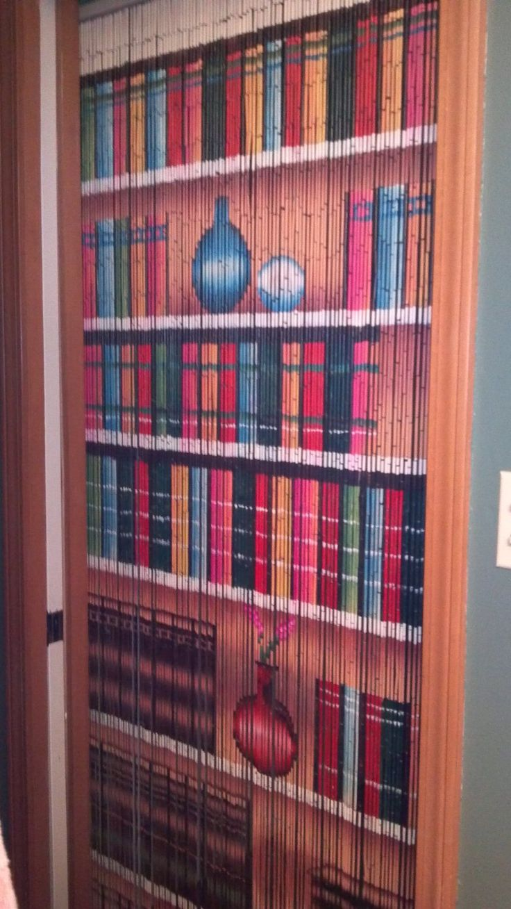 Amazoncom  Bookcase Beaded Curtain 125 Strands hanging hardware 55  Want  Pinterest