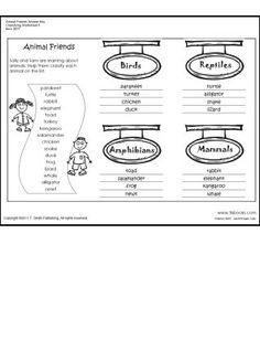 Best 10+ Animal classification worksheet ideas on