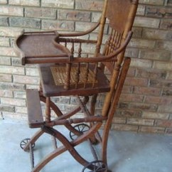 Folding Chair Auction Strap Patio Chairs #1 Antique Oak Combo Baby Highchair Stroller Childs Vintage, Ad Id: 23084031, Daytona ...