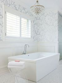 25+ best Bathroom Wallpaper ideas on Pinterest | Half ...
