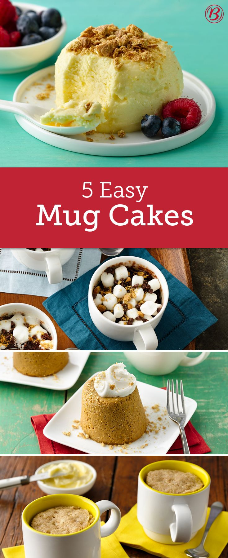 Look out coffee and hot cocoa, now you can make breakfast and dessert in your favorite mug, in minutes! From cheesecake and