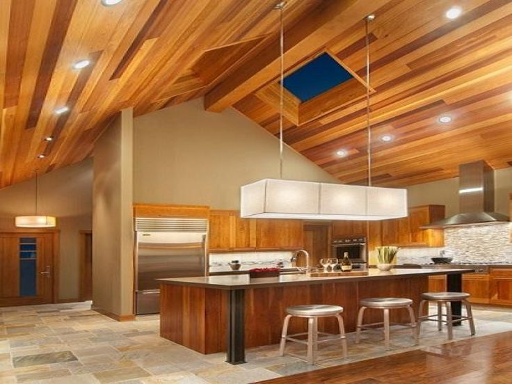 Multicolor wood ceiling recessed lighting modern fixture