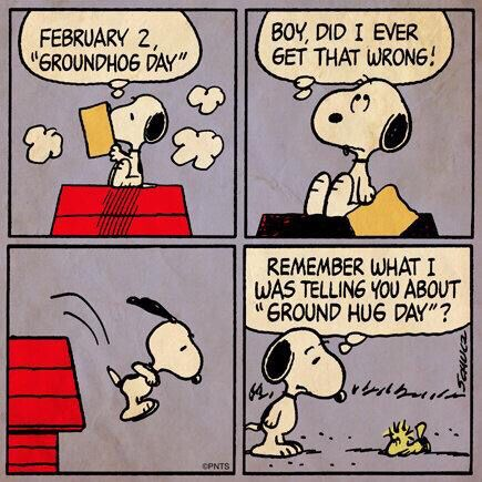Image result for snoopy groundhog day
