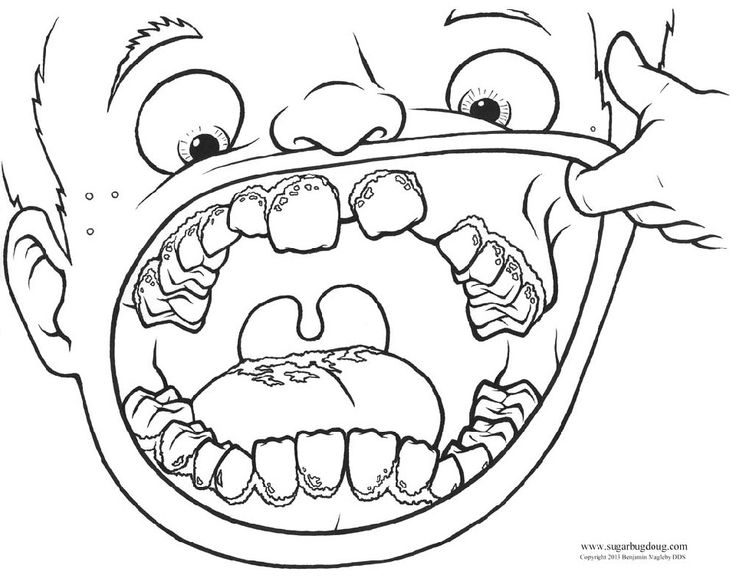 Pre K Dental Coloring Coloring Pages