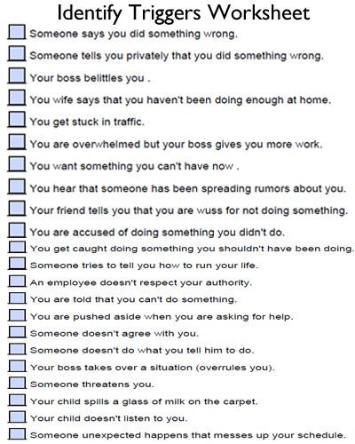 Identify Your Triggers And Identify Personal Coping Skills