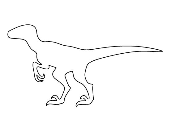 Velociraptor pattern. Use the printable outline for crafts