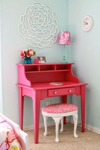 25+ best ideas about Pink desk on Pinterest | Pink home ...