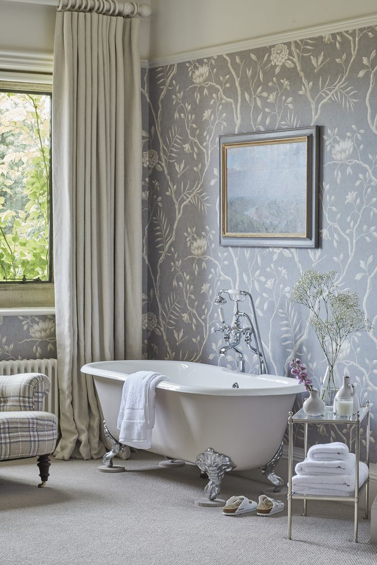 1000+ ideas about Bathroom Wallpaper on Pinterest