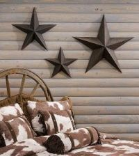 Star Wall Decor | Metal star wall dcor - 3 piece set ...