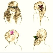 hair sketches