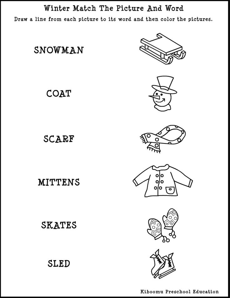 17 Best images about Winter Worksheets on Pinterest