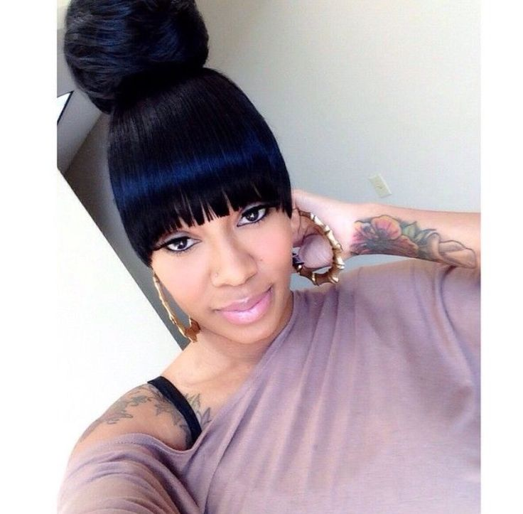 25 Best Ideas About Black Ponytail Hairstyles On Pinterest