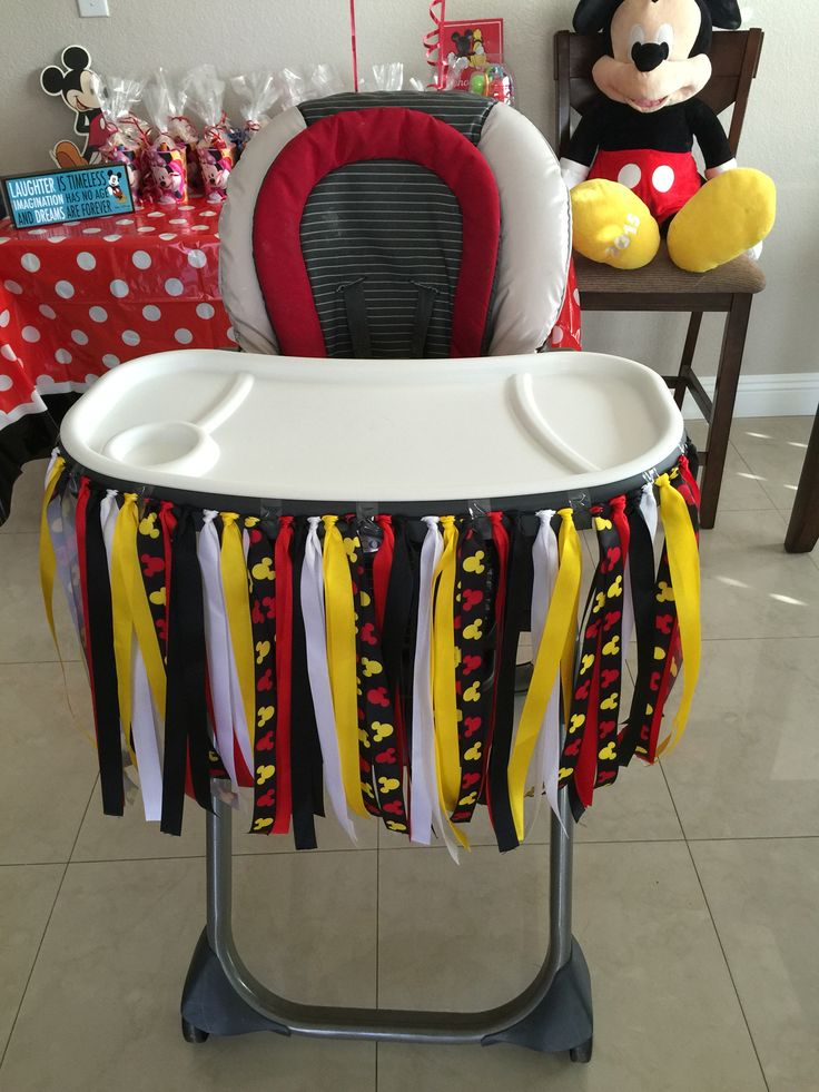mickey mouse high chair decorations lawn with canopy 1st birthday party | pinterest ...