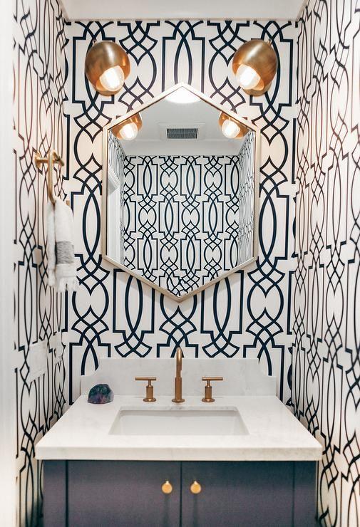25 Best Ideas About Powder Room Wallpaper On Pinterest