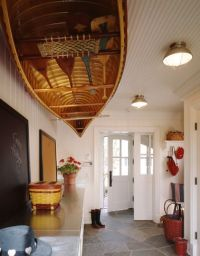 Canoe hanging from ceiling in mud room | For the Home ...