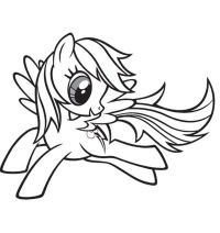 Baby Rainbow Dash Coloring Page   My Little Pony ...