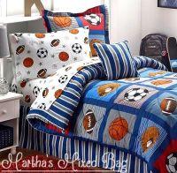 ALL SPORTS Boys Bedding Football Basketball Soccer Balls ...