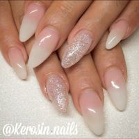 Babyboomers ombre nails French fade nails gel nails ...