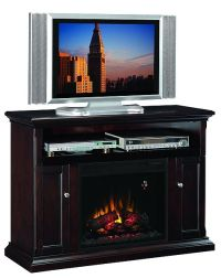 Classic Flame Cannes Espresso Media Center with Electric ...