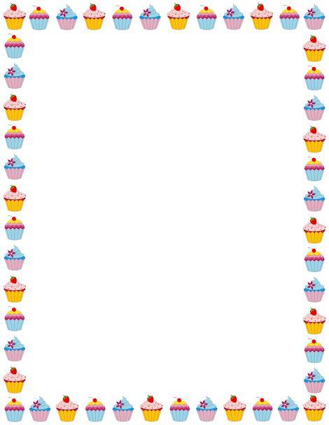 cupcake page border. free