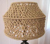 Macrame Lampshade - Wide - Handmade Macrame Lamp Shade ...