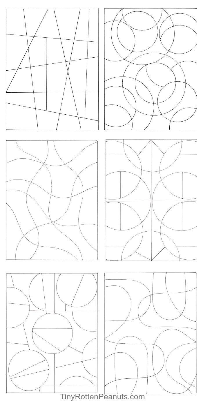 Inspired By Zentangle Patterns and Starter Pages
