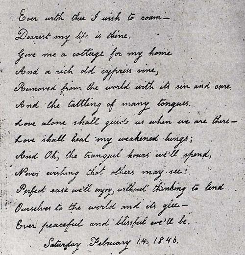 Acróstico dedicado a Edgar Allan Poe por Virgina Clemm 14
