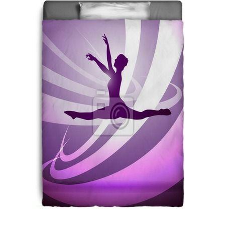 Silhouettes Gymnastics Bedding