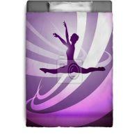 Silhouettes Gymnastics Bedding | Girls Bedroom | Pinterest ...
