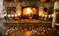 Keep warm and propose near a romantic fireplace!   Winter ...
