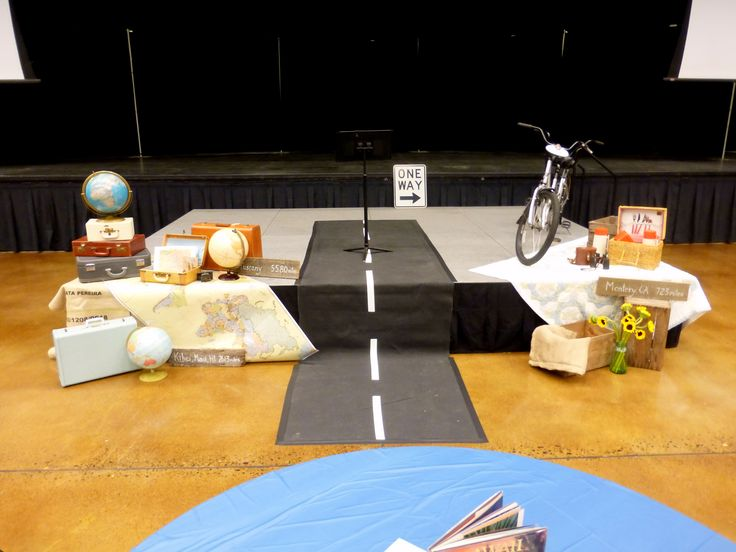 Journey  travel theme stage decor  Conference Ideas  Pinterest  Travel Decor and Travel themes