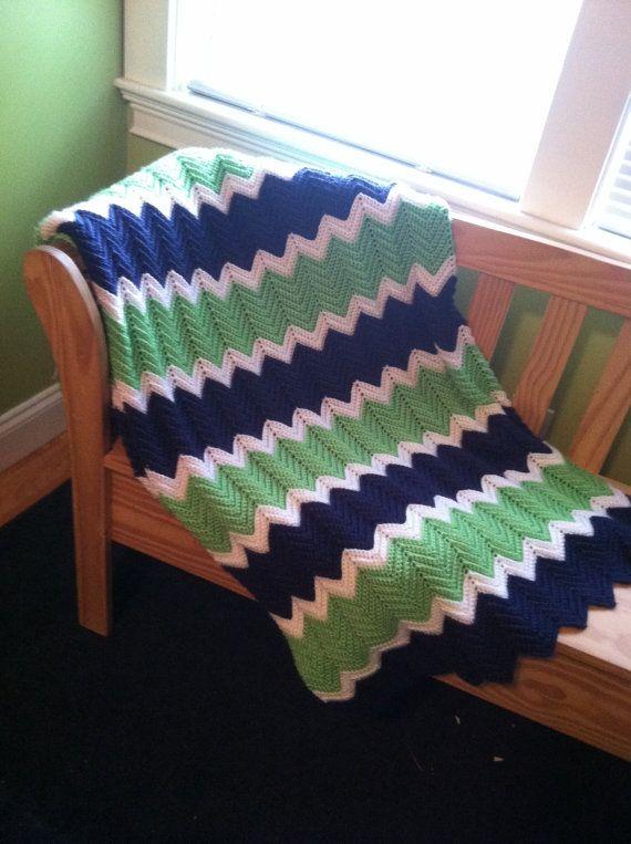 XL Ripple Crochet BlanketAfghan Twin By