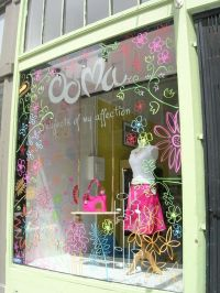 painting on glass - cute for spring | Window Display Ideas ...
