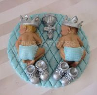 twin baby shower cakes | glitter Twins Boy Prince Baby ...