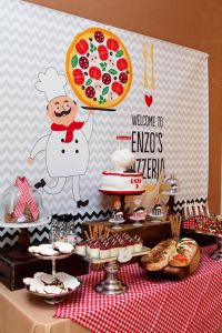Pizza Themed Birthday Party | Pizza|Italian Party Ideas ...