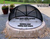 Higley Custom Dome Fire Pit Screen. *Made from Stainless ...